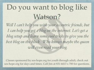 Blog class image