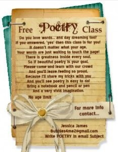 Free poetry class image